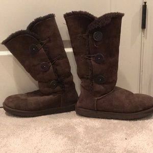 Ugg brown boots with buttons!